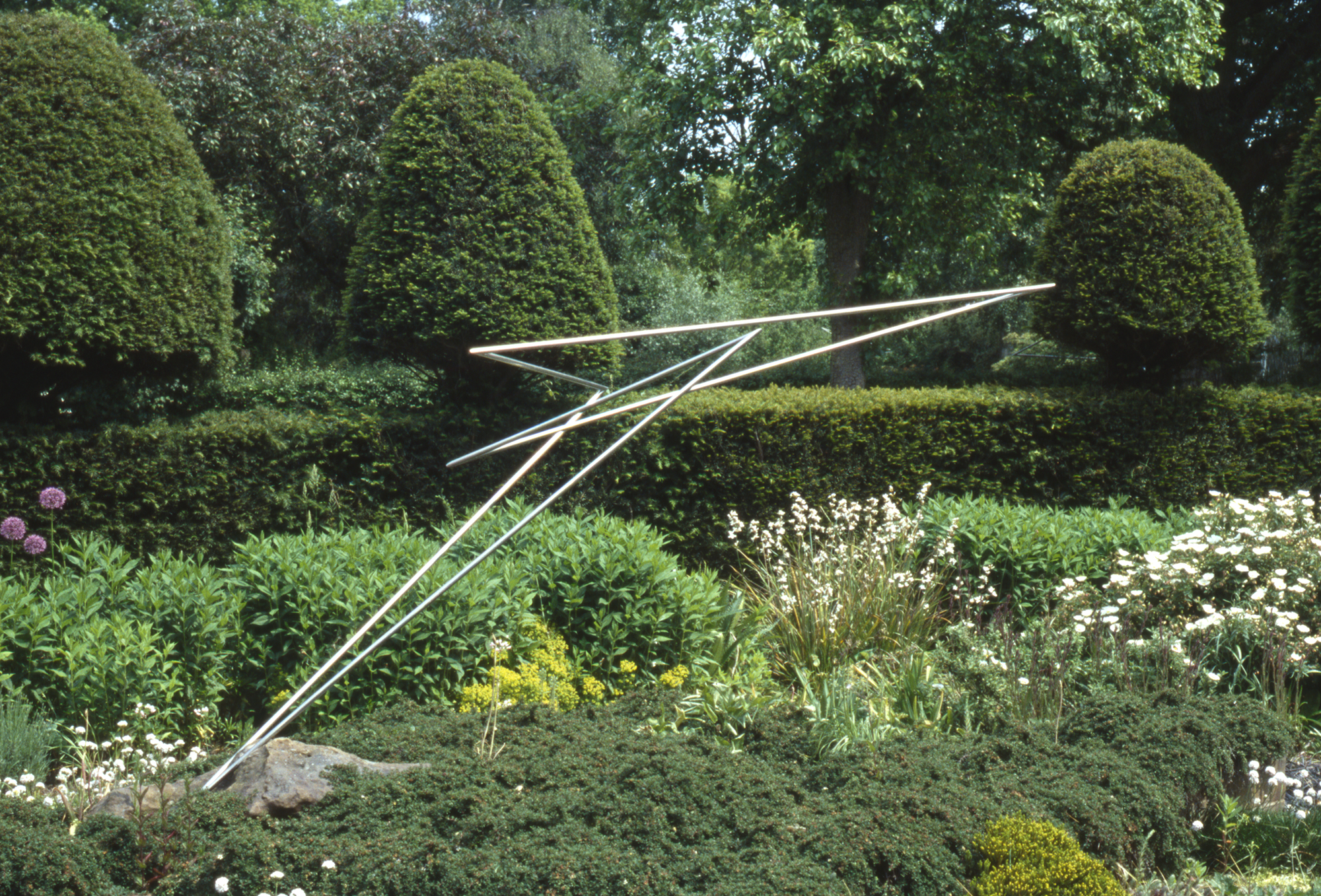 Flying - stainless steel and sarsen stone