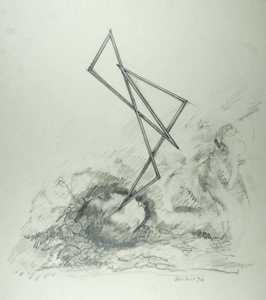 Sketch for a Sculpture - pencil