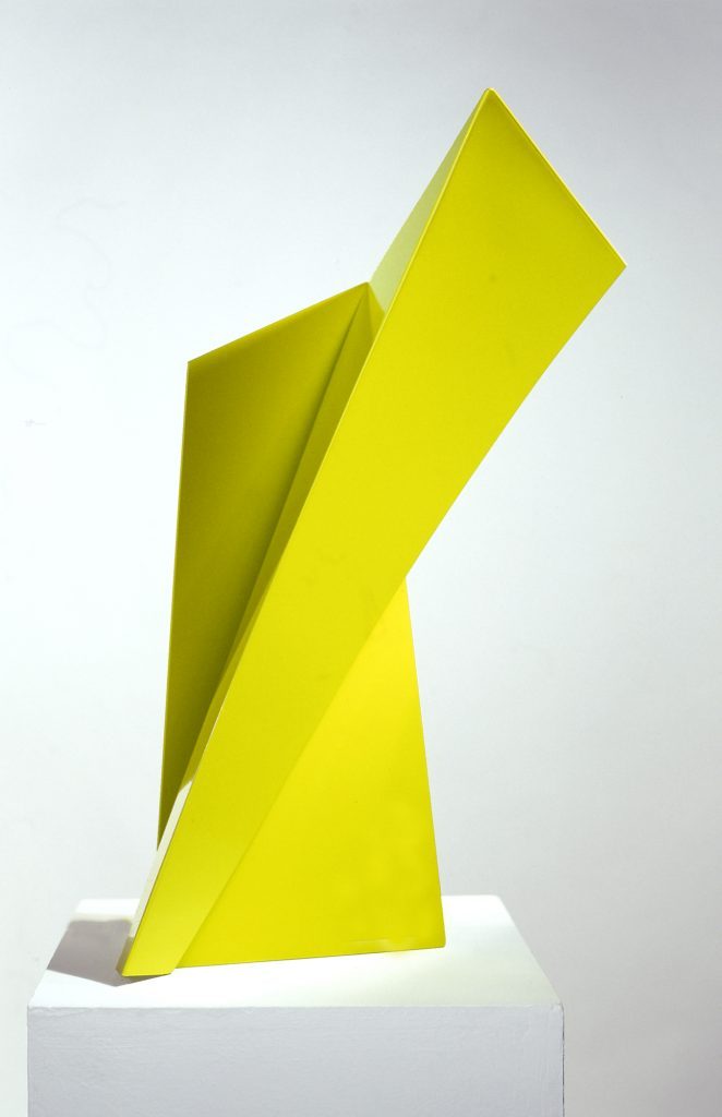 Yellow Tower - stainless steel - powder coated